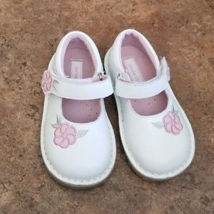 Stride Rite Leather MaryJane Shoes White